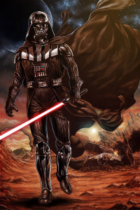 Vader Takes on The Rebel Army Alone (click for full size)